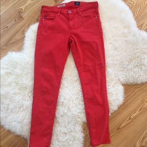 Low rise skinny cropped jean